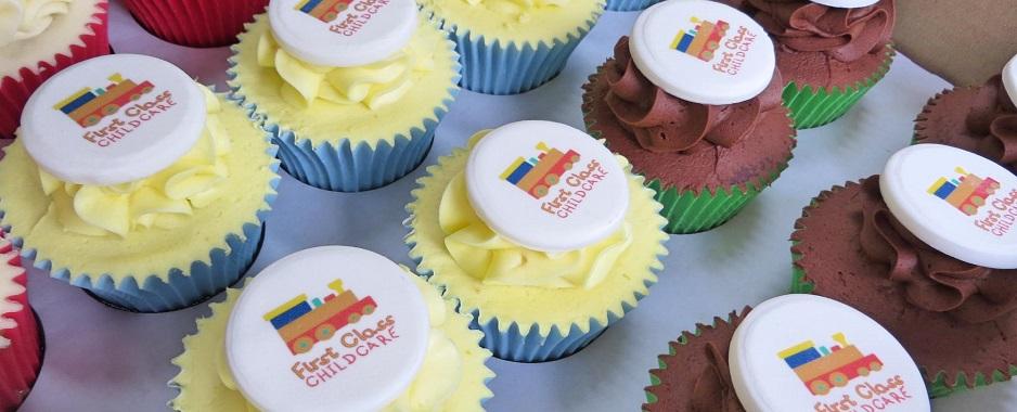First Class Edible Print Cupcakes